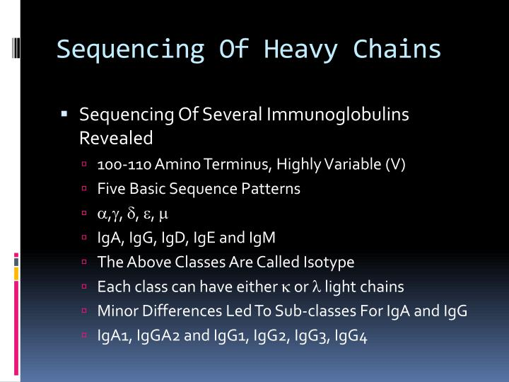 Sequencing Of Heavy Chains