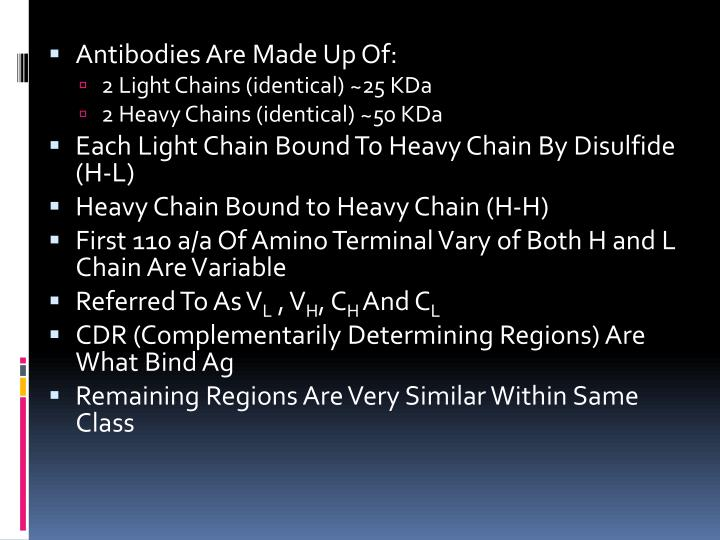 Antibodies Are Made Up Of: