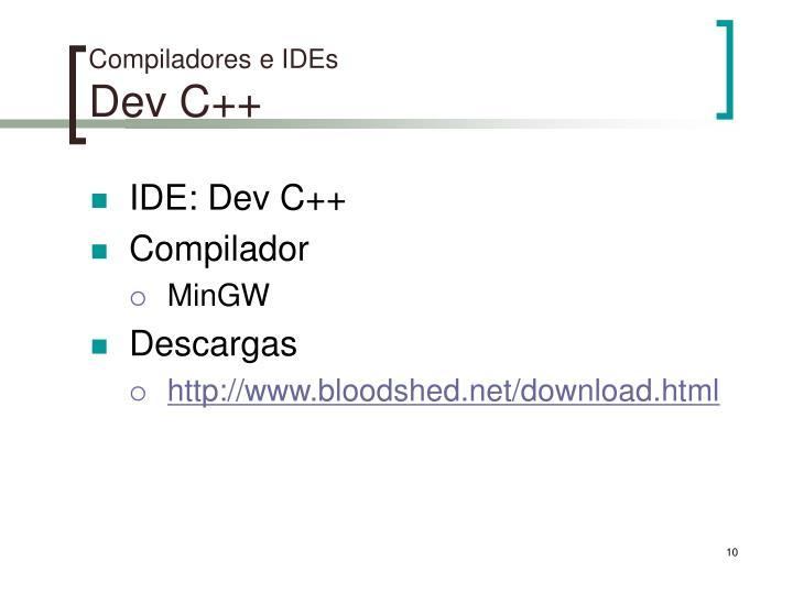 Compiladores e IDEs