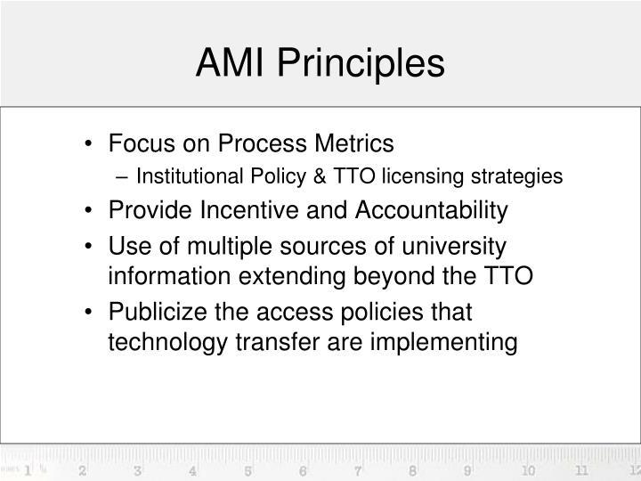 AMI Principles