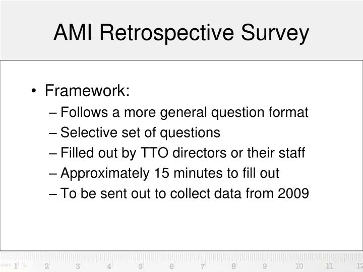 AMI Retrospective Survey