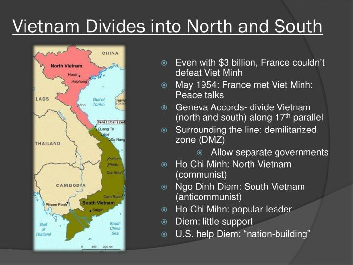 Vietnam Divides into North and South