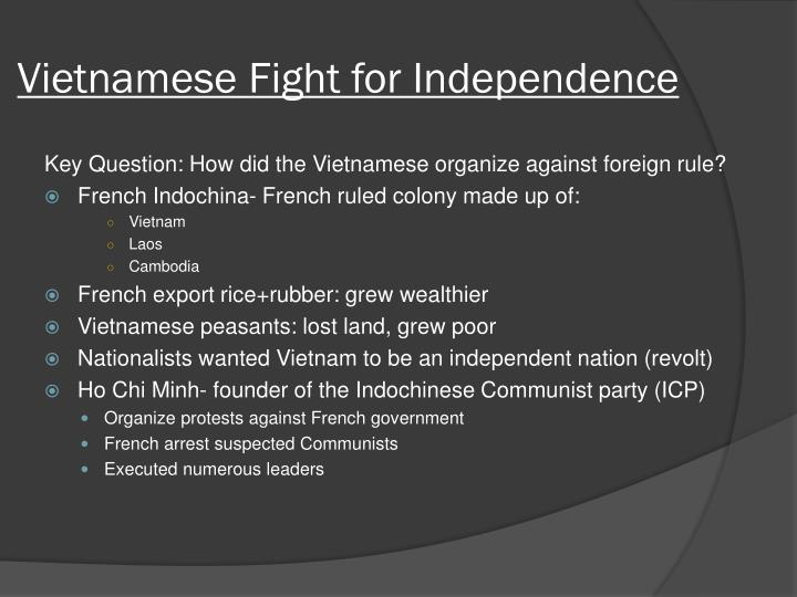 Vietnamese fight for independence