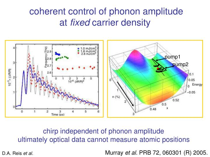 coherent control of phonon amplitude