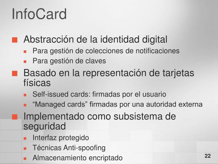 InfoCard