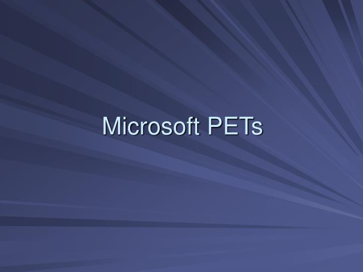 Microsoft PETs