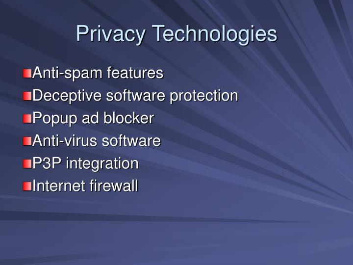 Privacy Technologies
