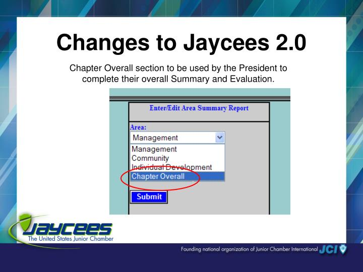 Changes to Jaycees 2.0