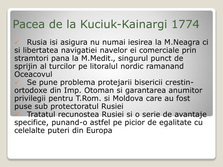 Pacea de la Kuciuk-Kainargi 1774