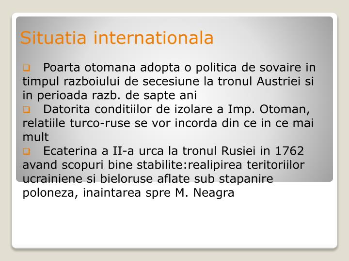 Situatia internationala