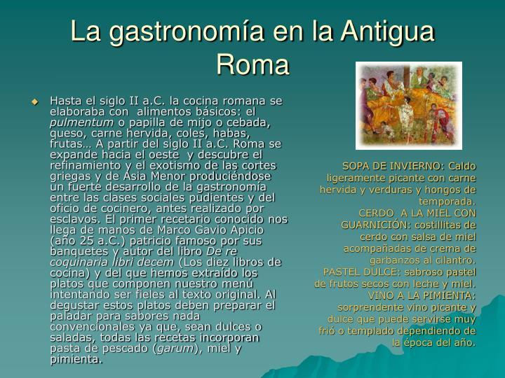 La gastronomía en la Antigua Roma