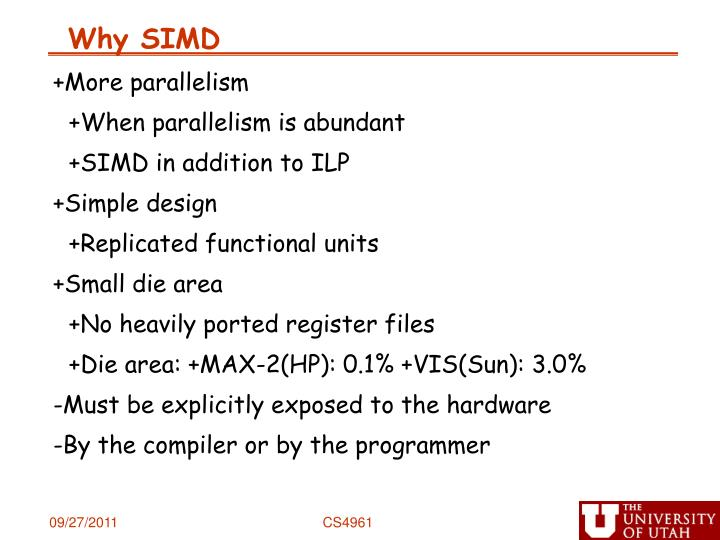 Why SIMD