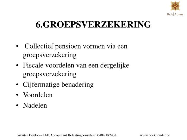6.GROEPSVERZEKERING