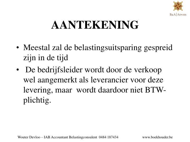 AANTEKENING