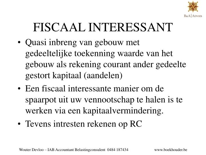 FISCAAL INTERESSANT