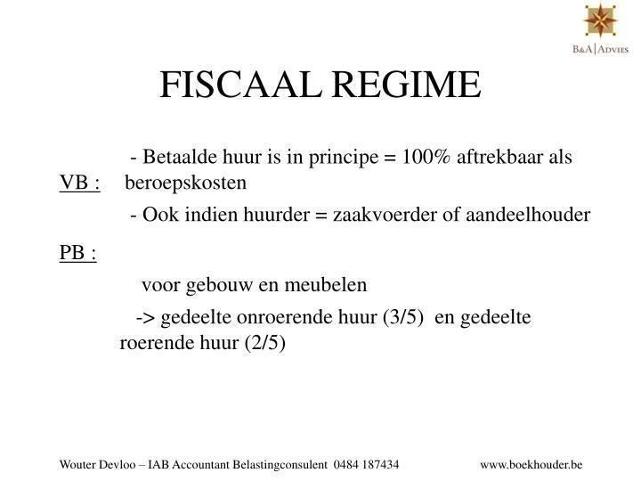 FISCAAL REGIME