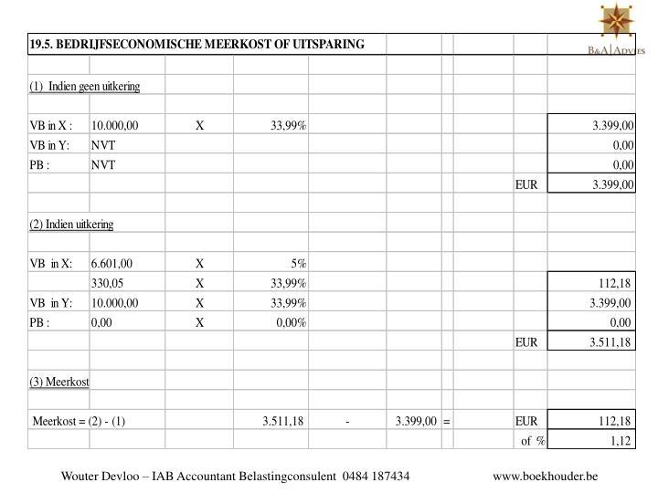 Wouter Devloo – IAB Accountant Belastingconsulent  0484 187434                          www.boekhouder.be