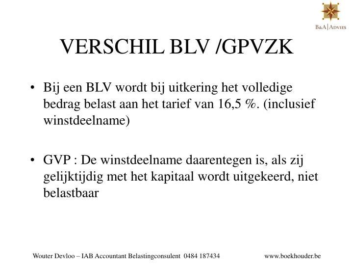 VERSCHIL BLV /GPVZK