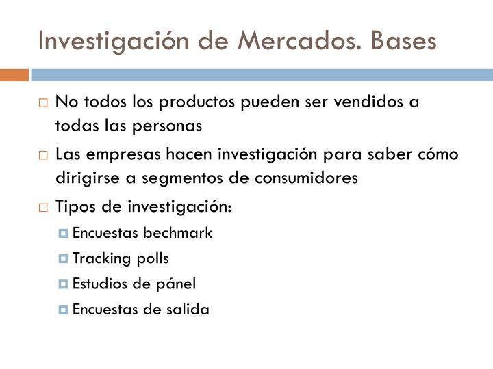 Investigación de Mercados. Bases