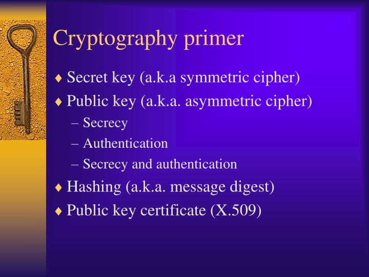 Cryptography primer