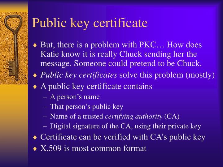 Public key certificate