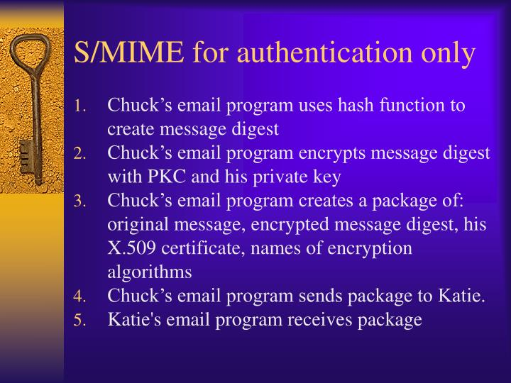 S/MIME for authentication only