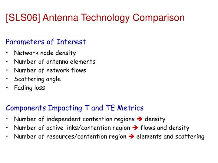 [SLS06] Antenna Technology Comparison