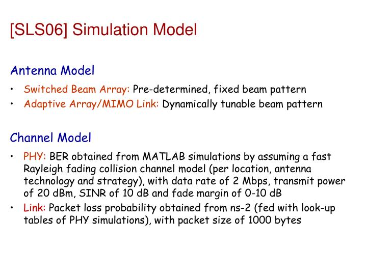 [SLS06] Simulation Model