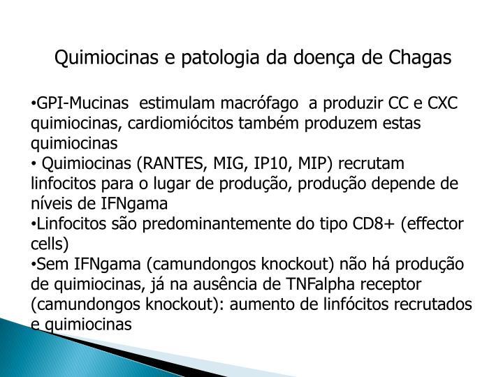 Quimiocinas e patologia da doença de Chagas