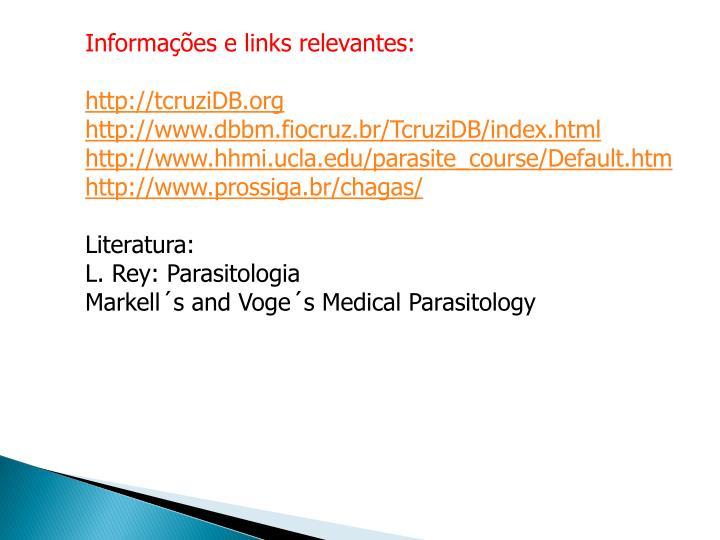 Informações e links relevantes: