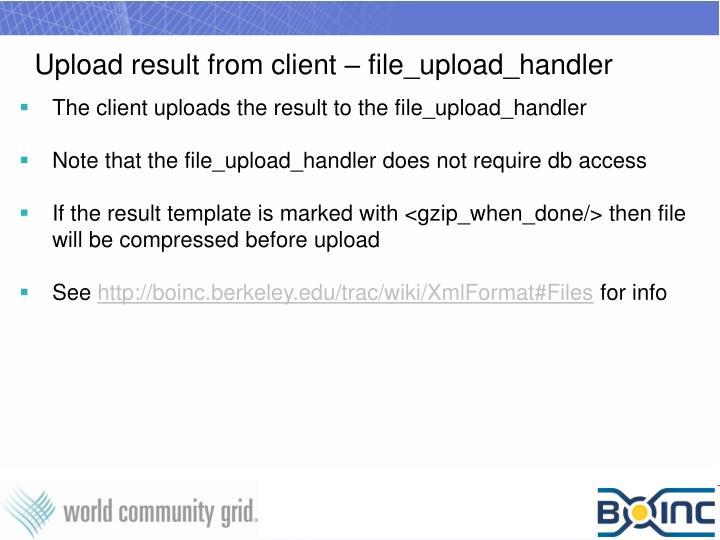 Upload result from client – file_upload_handler