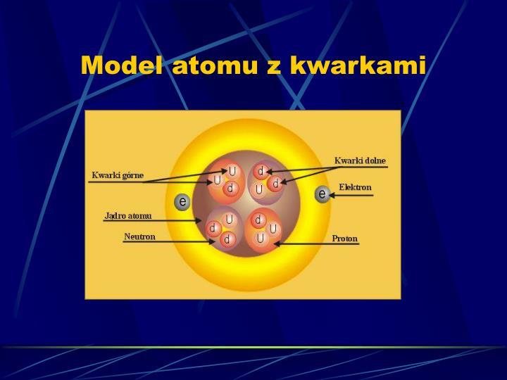 Model atomu z kwarkami