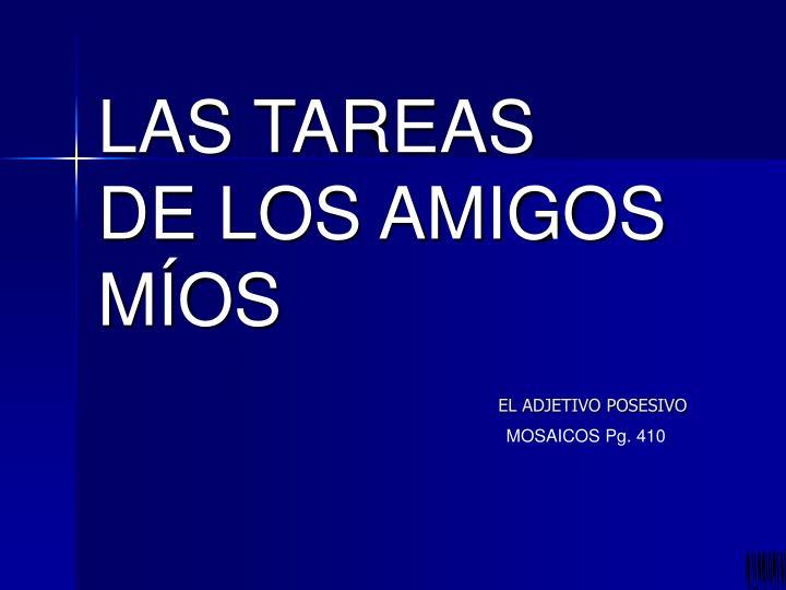 LAS TAREAS