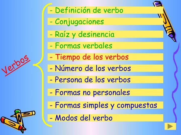 - Definición de verbo