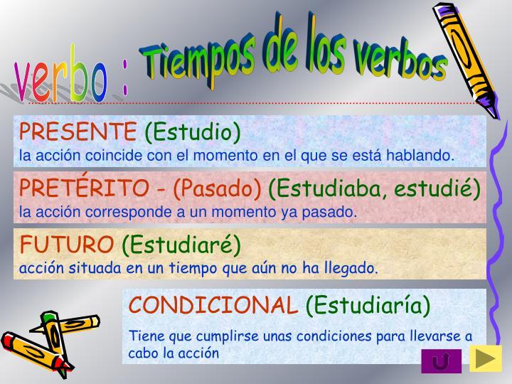 Tiempos de los verbos