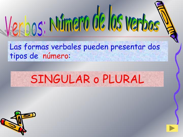 Número de los verbos