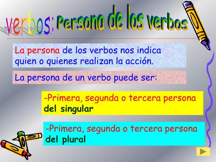 Persona de los verbos