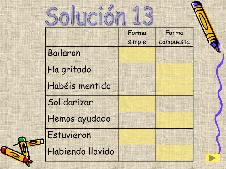 Solución 13