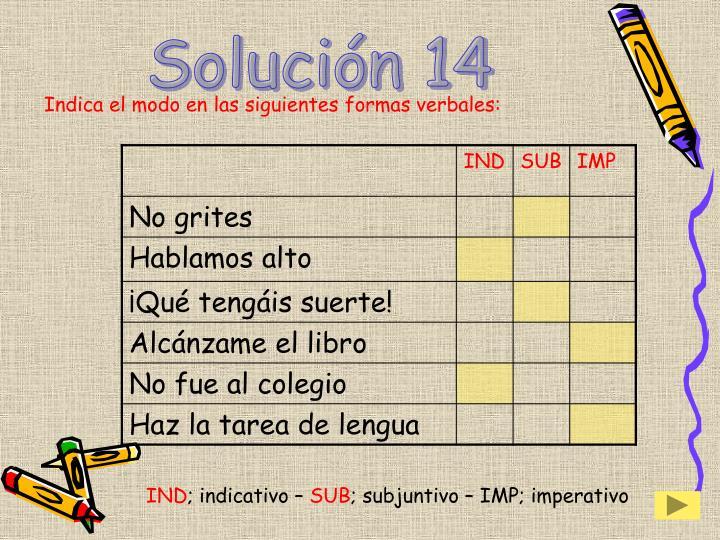 Solución 14