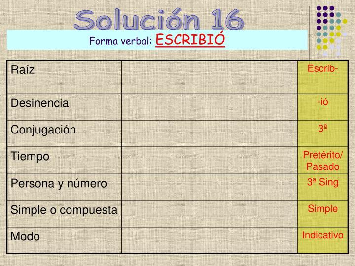 Solución 16