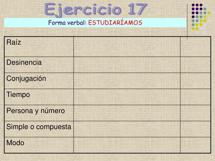 Ejercicio 17