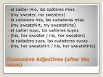 possessive adjectives after the noun1