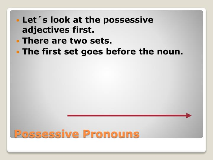 Possessive pronouns1