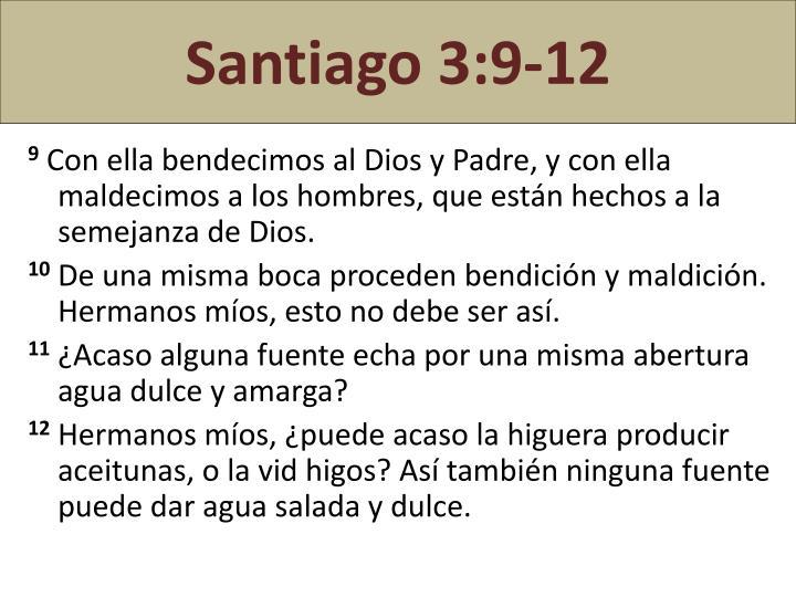 Santiago 3:9-12