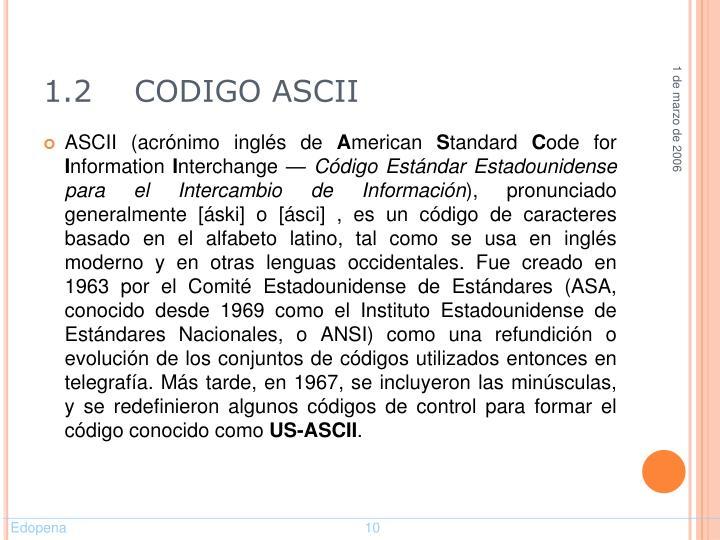 1.2    CODIGO ASCII
