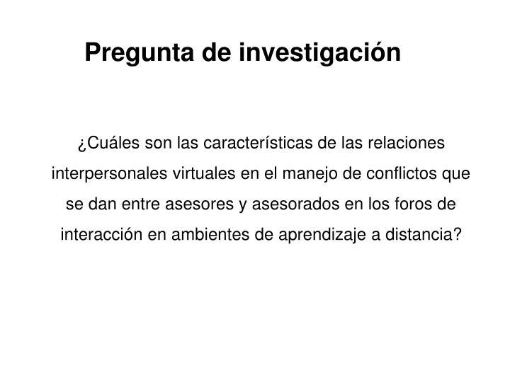 Pregunta de investigacin