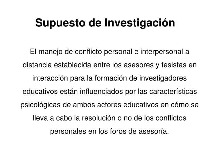 Supuesto de Investigacin