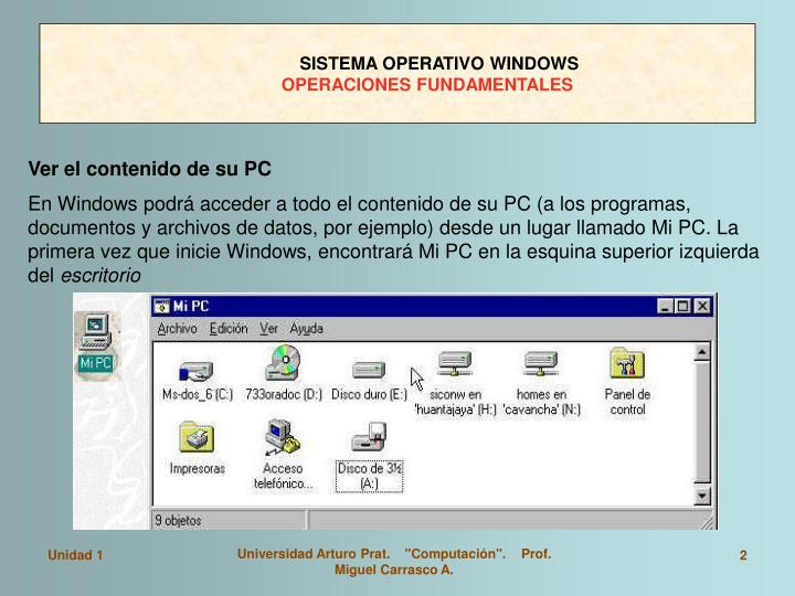 Sistema operativo windows operaciones fundamentales1