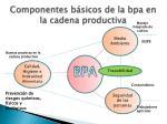 componentes b sicos de la bpa en la cadena productiva