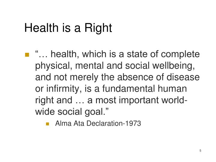 Health is a Right